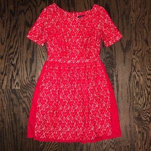 Enfocus Red Lace Dress Size 8